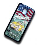 KOOLART AMERICAN MUSCLE Car 50's Yellow Chevy Corvette Samsung Galaxy S5 Case